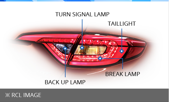 ※  RCL IMAGE  (TURN SIGNAL LAMP,Taillight,BREAK LAMP,BACK UP LAMP)